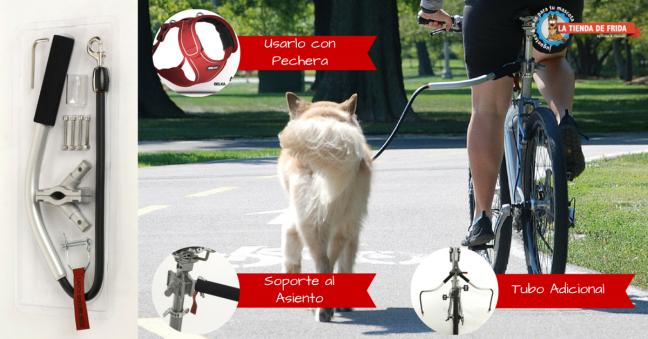 Adaptador para pasear a tu perro en Bicicleta