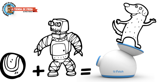 Pelota+Robot=iFetch=Perros Felices